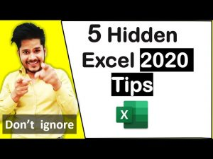 Top 5 Excel Tips and Tricks 2020 Hindi – Excel User Should Know – Best Tips & Tricks for Beginners