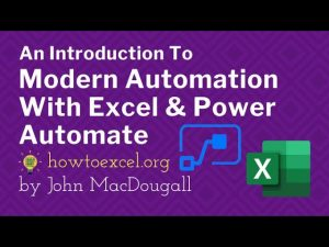 Introduction to Modern Automation with Excel & Power Automate