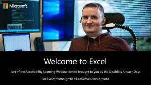 Accessibility Learning Webinar Series: Excel Tips and Tricks