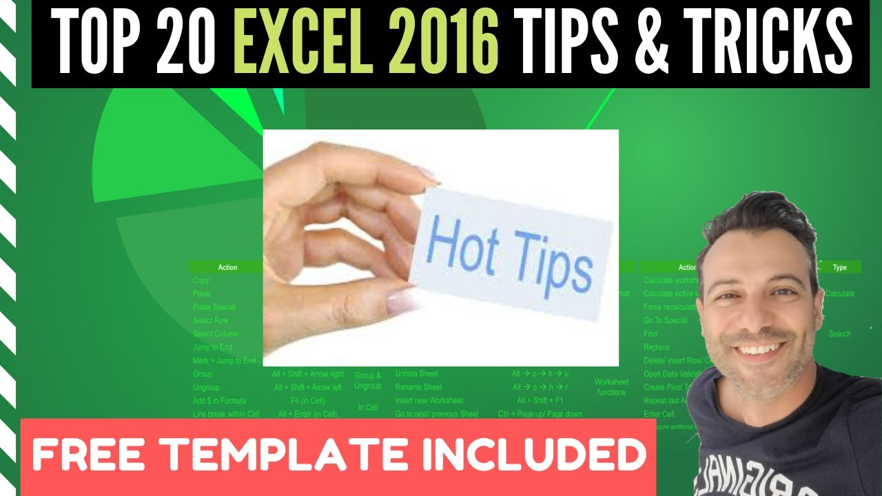 Top 20 Excel 2016 Tips and Tricks