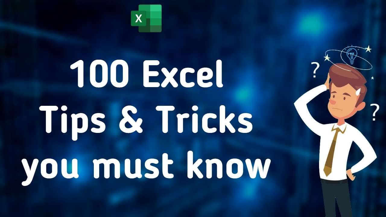 100 Excel Tips & Tricks you must know   Excel Tutorials 2020