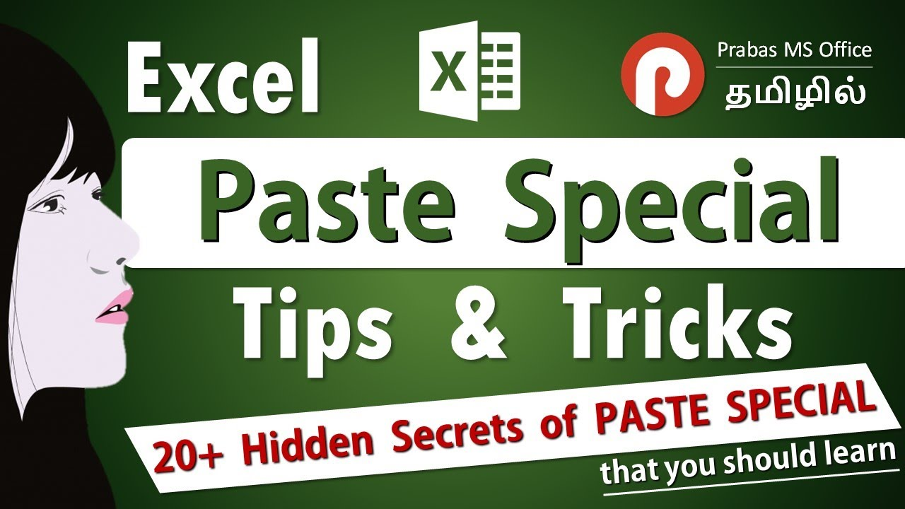 The Top 20 Excel Tips and Tricks of Paste Special | Excel in Tamil | Prabas MS Office