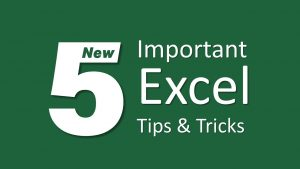 5 Advanced Excel Tips & tricks
