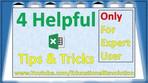 4 helpful amazing Excel Tips and Trick ~ Excel Smart Tips