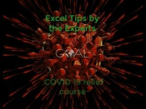 Big Announcement – Excel Tips by the Experts – Covid-19 Relief Excel Charity course coming soon