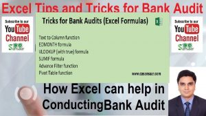 Excel Tips and Tricks for Bank Audit | Bank Branch Audit | Bank Audit