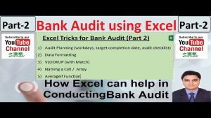 Bank Audit using Excel | Excel Tips and Tricks for Bank Audit – Part 2