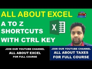 A TO Z SHORTCUTS WITH CTRL KEY IN EXCEL || EXCEL TIPS AND TRICKS || ALL ABOUT EXCEL | CA MANOJ GUPTA