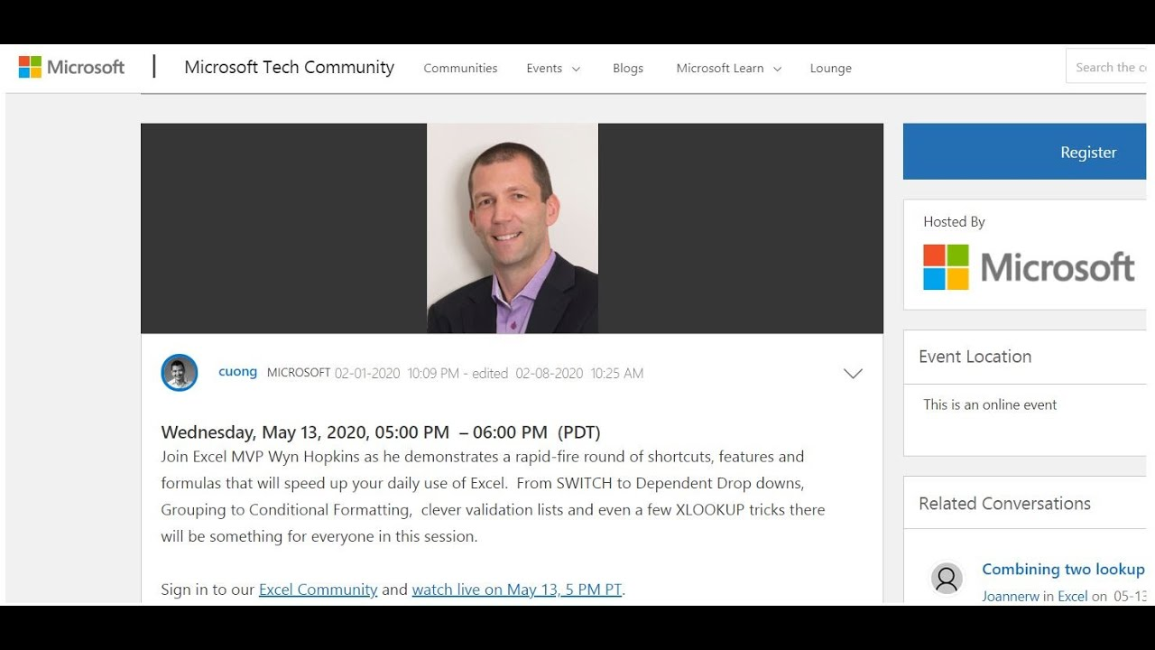 Excel Tips and Tricks Webinar May 2020