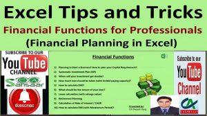 Excel Tips and Tricks – Financial Functions for Professionals | Financial Planning in Excel