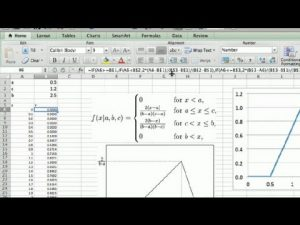 How to Model Triangular Distribution in Excel : Microsoft Excel Tips