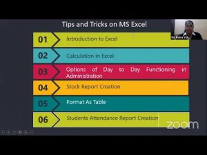 "NATIONAL LEVEL WEBINAR ON ""MS EXCEL – TIPS AND TRICKS"" (Exclusively for Non Teaching Staff)"