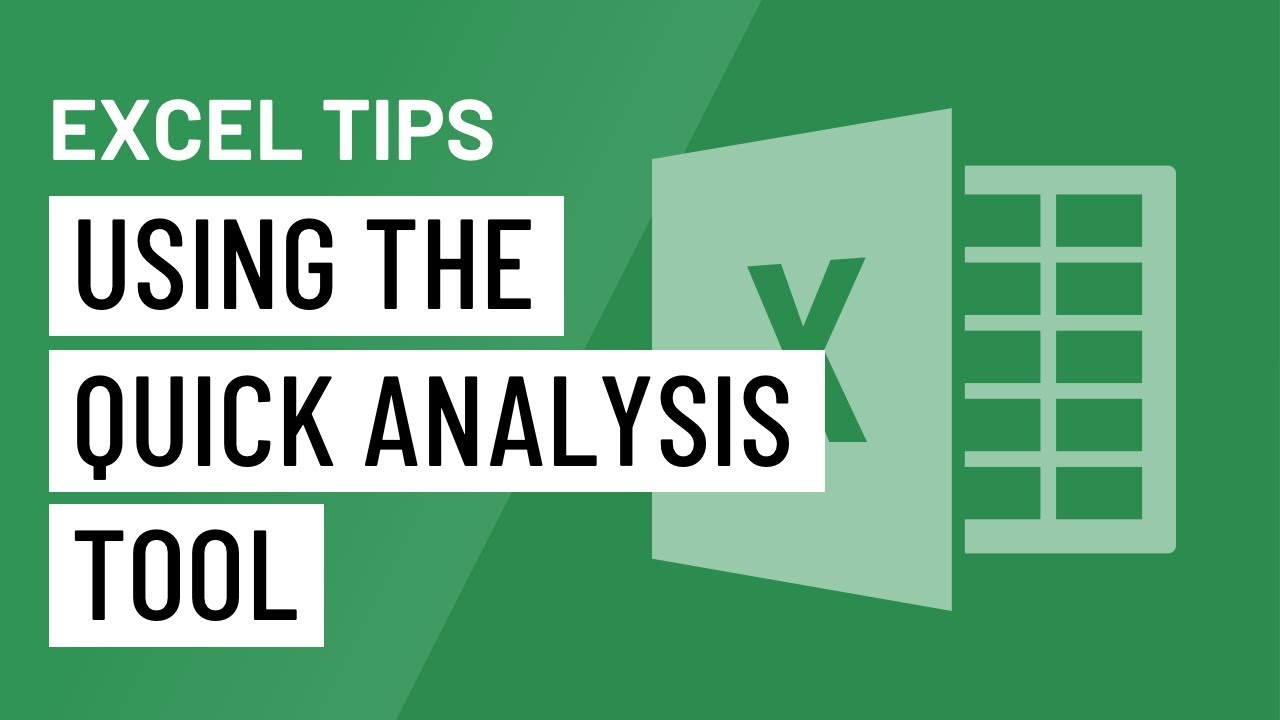 Excel Quick Tip: Using the Quick Analysis Tool