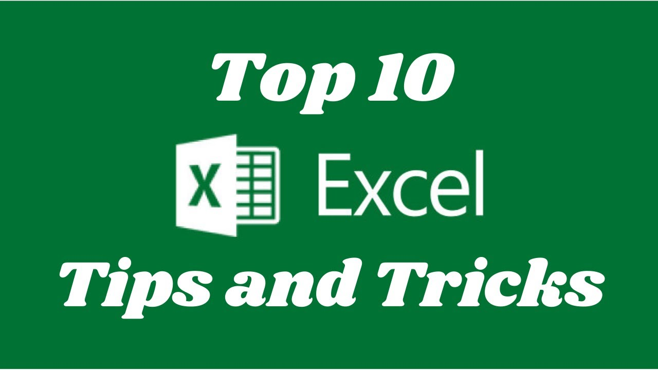Top 10 Excel Tips and Tricks (You Must Know in 2020)