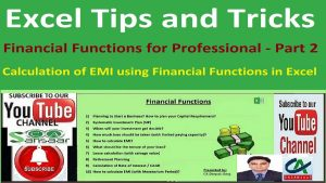 Calculation of EMI using Financial Functions in Excel | Excel Tips and Tricks
