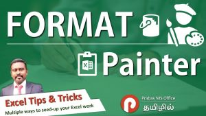 How to use Format Painter in Excel | Excel Tips and Tricks in Tamil | Prabas MS Office