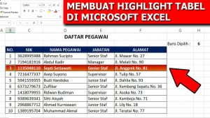 Tips Membuat Highlight Tabel di Microsoft Excel