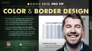 EXCEL PRO TIP: Color & Border Design