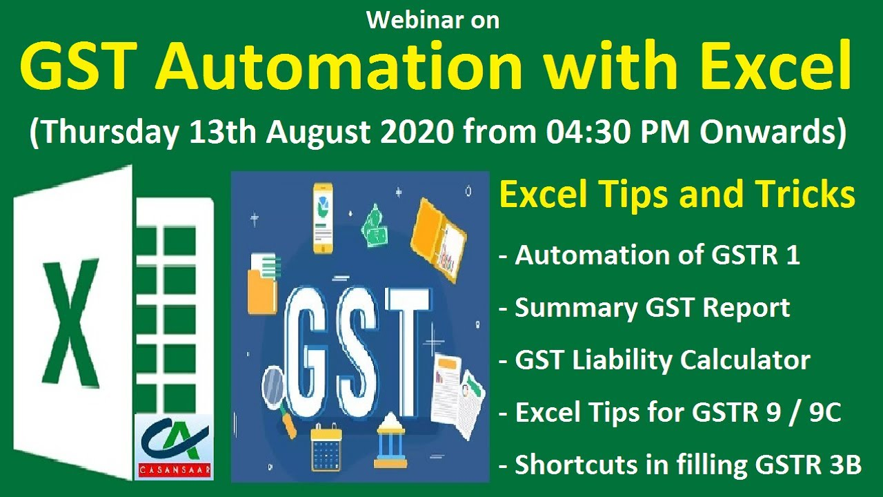 GST Automation with Excel | Excel Tips and Tricks for GST