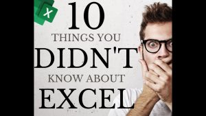 10 things you didn't know about Excel | Tips and Tricks 2020