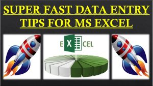 Fast data entry tips for MS Excel in Hindi | Excel tips to make data entry faster | Data Entry form|