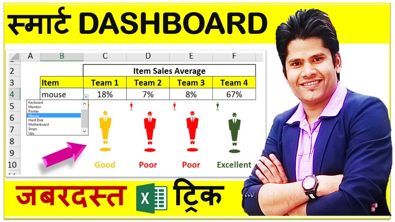 IMPRESSIVE Excel Dashboard Trick For All Smart Excel Users