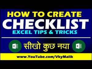 How to Create Checklist in Excel   Excel Tips and Tricks in Hindi   Excel Tutorial in Hindi