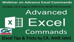 Advance Excel Commands – Excel Tips and Tricks | Advanced Protection and Automation using Macro