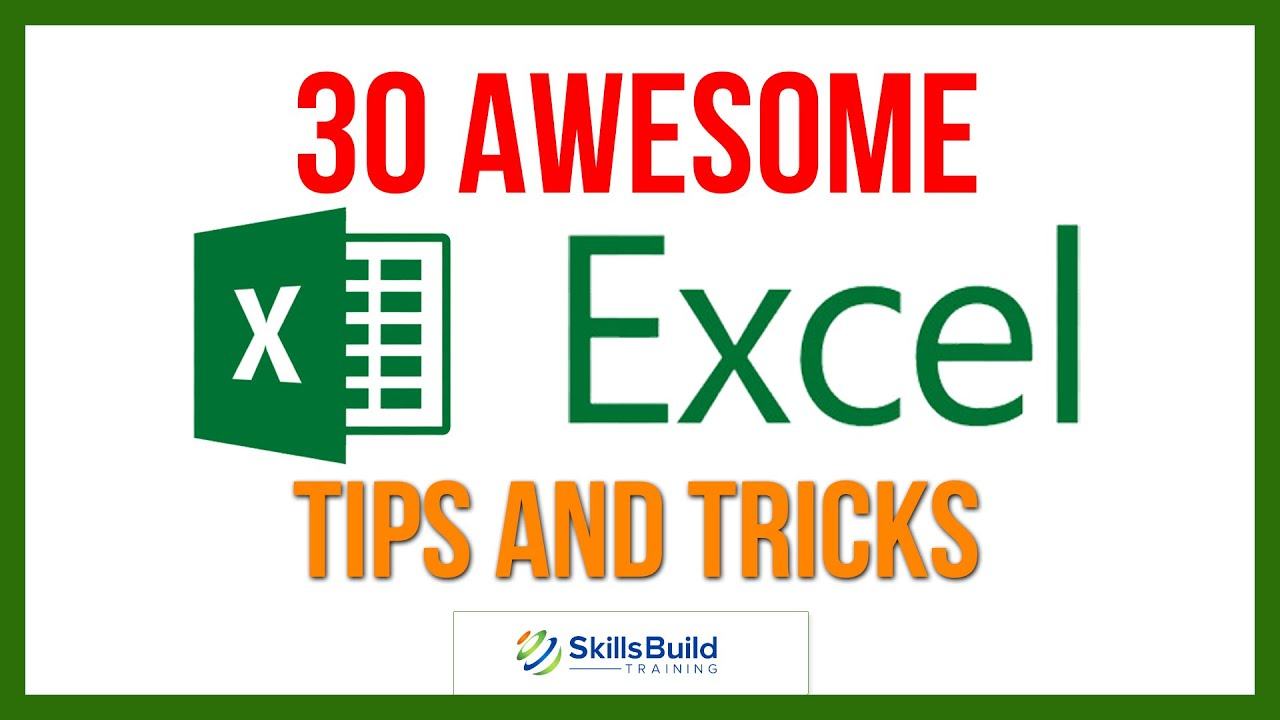 30 Awesome Microsoft Excel Tips and Tricks