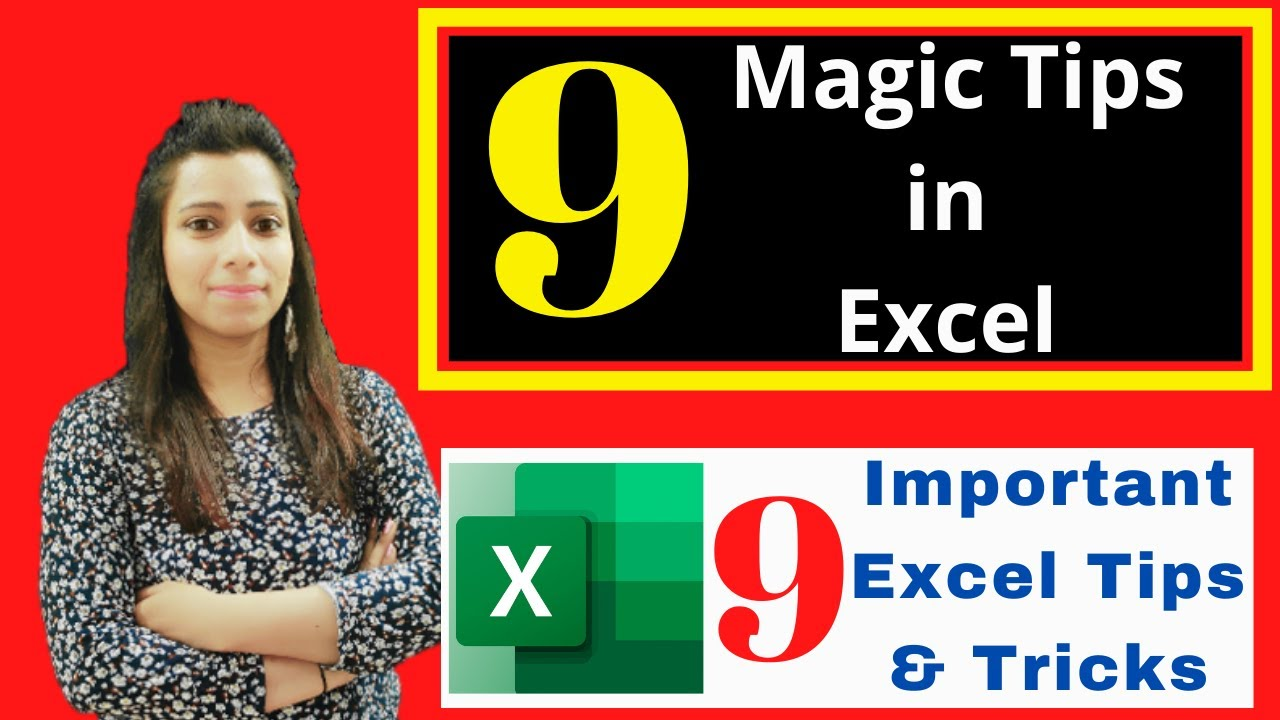 Top 9 Tips & Tricks in Excel in Hindi | Excel Tips and Tricks You Must Know | Excel Tricks Advanced🔥