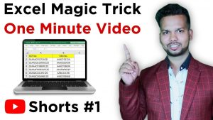 #Shorts Excel Magical Tips & Tricks | One Minute Video | My Live Support