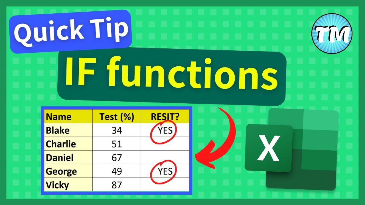 How to use IF Function in Excel   Excel Tips and Tricks #Shorts