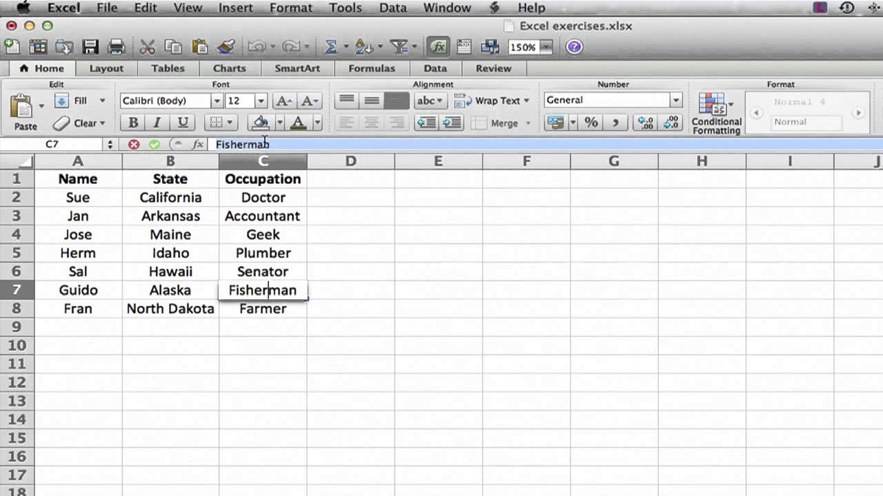 How to Edit the Contents of a Cell in Microsoft Excel : MS Excel Tips