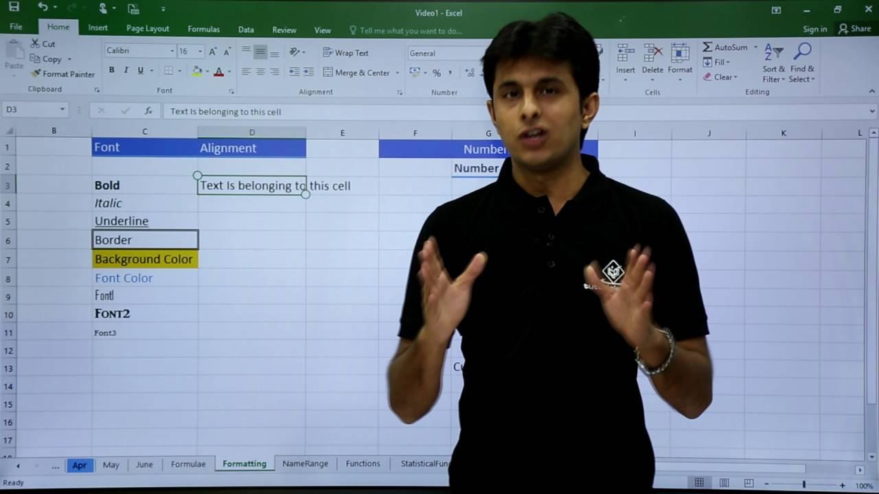 MS Excel – Formatting