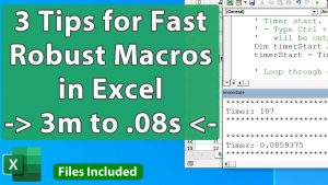 3 Tips for Faster and Better VBA Macros in Excel – Simple to Advanced