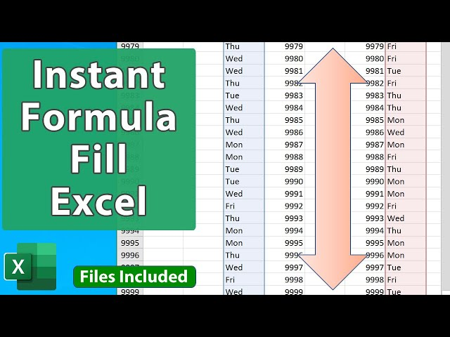 Excel Tips – Quickly Fill Formulas and Text Series in a Few Seconds – EQ 78