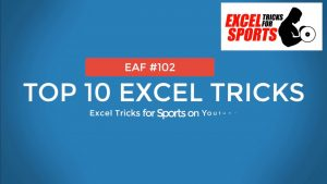 EAF #102 – Top10 Excel Tricks for Sport Science