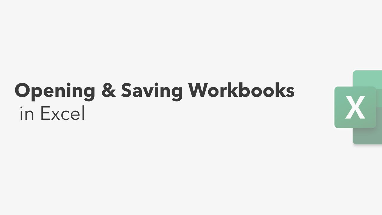 Saving & Opening a Workbook !! Excel Tips !!