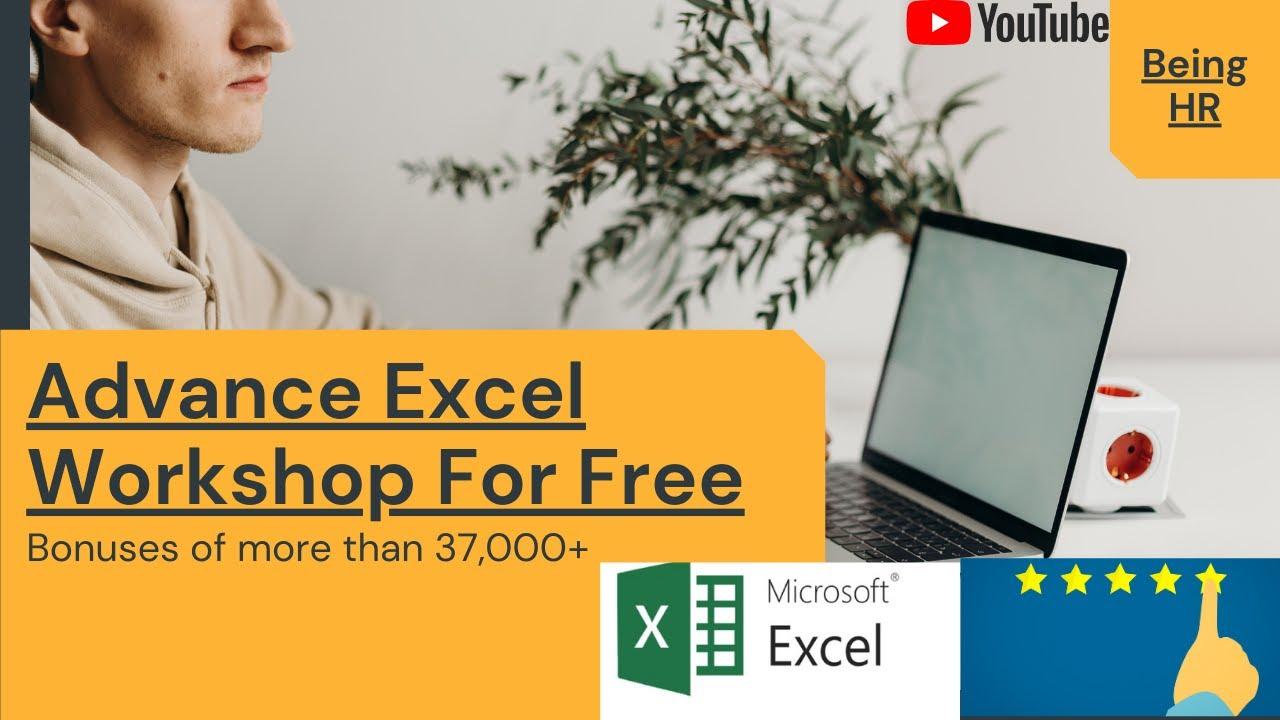Advanced Excel Free Workshop | New Formulas & Functions | Tips & Tricks Of Excel 2019