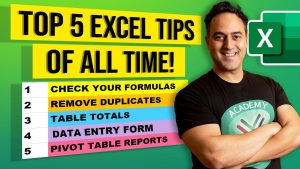 Top 5 Microsoft Excel Tips and Tricks (OF ALL TIME) – Excel Beginners to Advanced