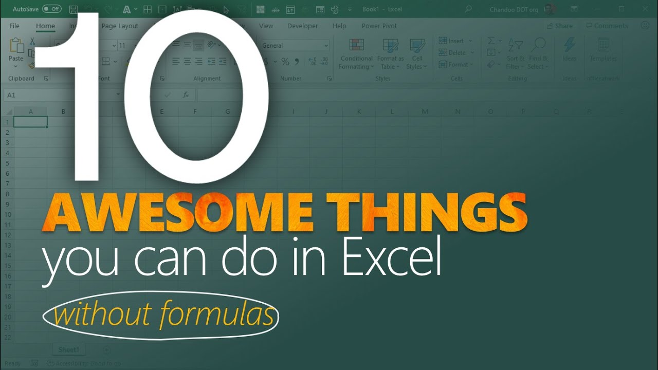 10 awesome things you can do in Excel – WITHOUT any formulas or pivots