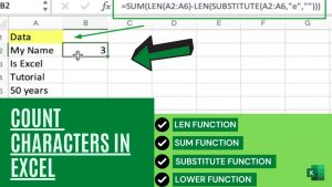 Count Characters In Excel | Excel Tips