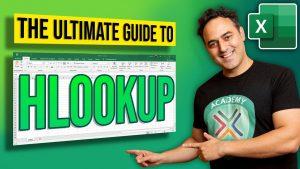 HLOOKUP Tips in Microsoft Excel