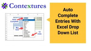 Autocomplete Entries With Excel Drop Down List