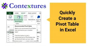 Create a Pivot Table in Excel 2013