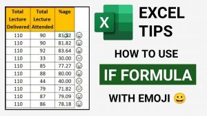 #shorts | How to Use If Formula with Emoji in Excel | Excel Tips