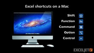 Excel shortcuts on the Mac – key differences