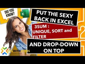 Microsoft Excel TIPS AND TRICKS : Combine Unique, Sort and Filter Array formulas