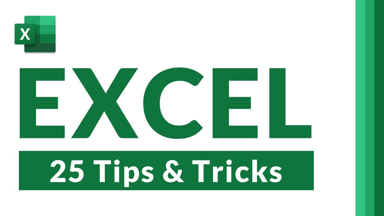 Top 25 Microsoft Excel Tips and Tricks for 2021 // NEW features, hidden gems and time-saving tips