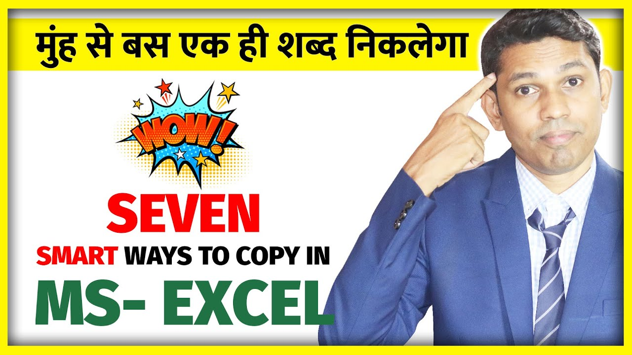 7 Tips and Tricks in excel to use Copy Command as excel Expert!